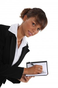 Picture of a woman scheduling her time