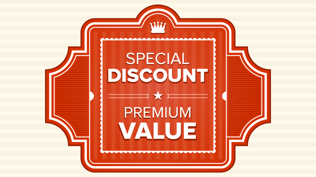 The Big Changes In eCommerce - Is the price right, an image of a banner saying 'Special Discount' and 'Premium Value' on.