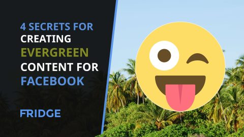 Picture of an image with the text 'Creating Evergreen Content For Facebook' on.