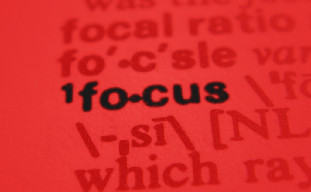 Picture of the word Focus on a page