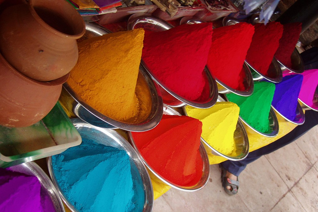 Picture of colorful spaces in India