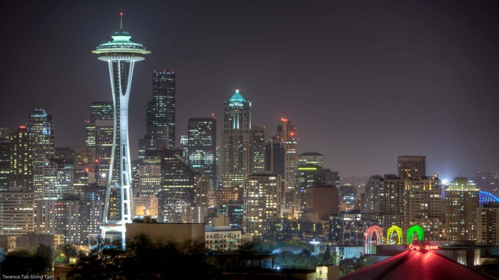 Picture of the Seattle Skyline At Night