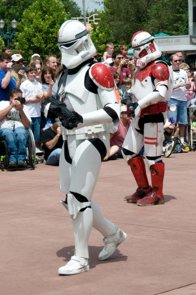 Picture of a per-aide of Storm Troopers from star wars
