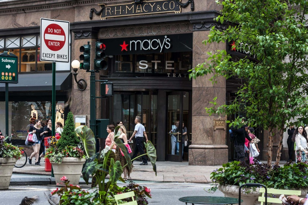 Picture of a Macy's Department Store Entrance