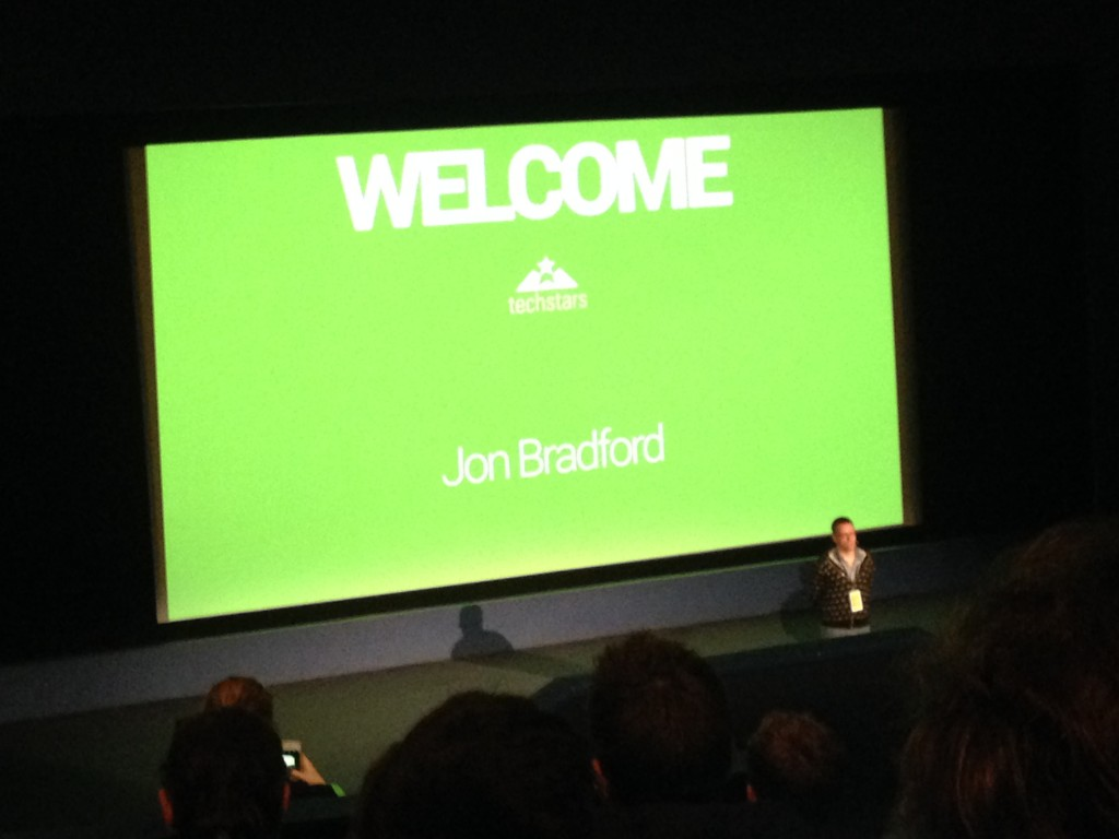 Picture of John Bradford Welcoming People To The Techstars Demo Day