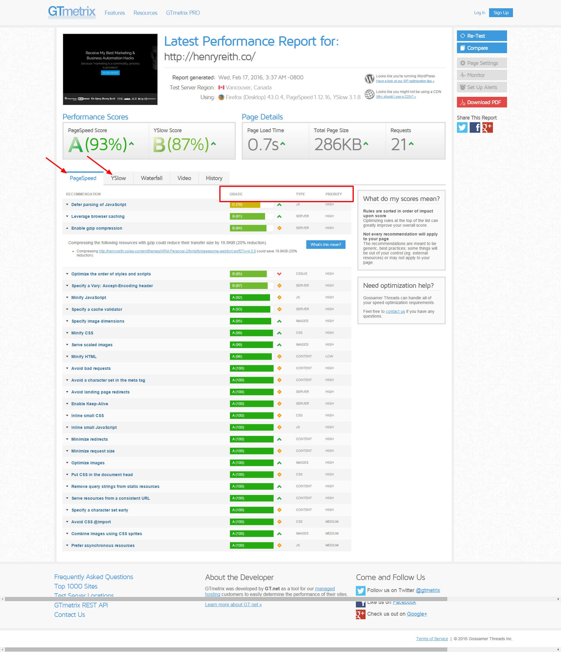 Speed-Up-Wordpress-GTmetrix-Website-Speed-and-Performance-Optimization-Henryreith-Co-Results ...