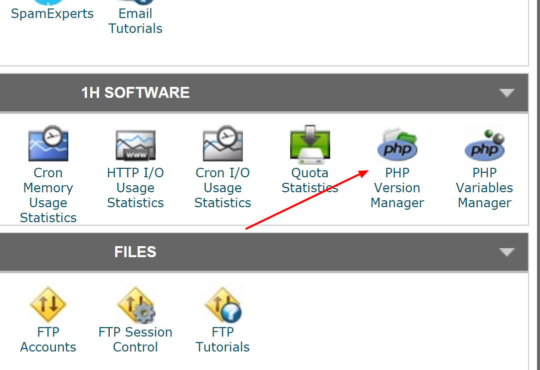 Speed-Up-WordPress-cPanel-PHP-Version-manager