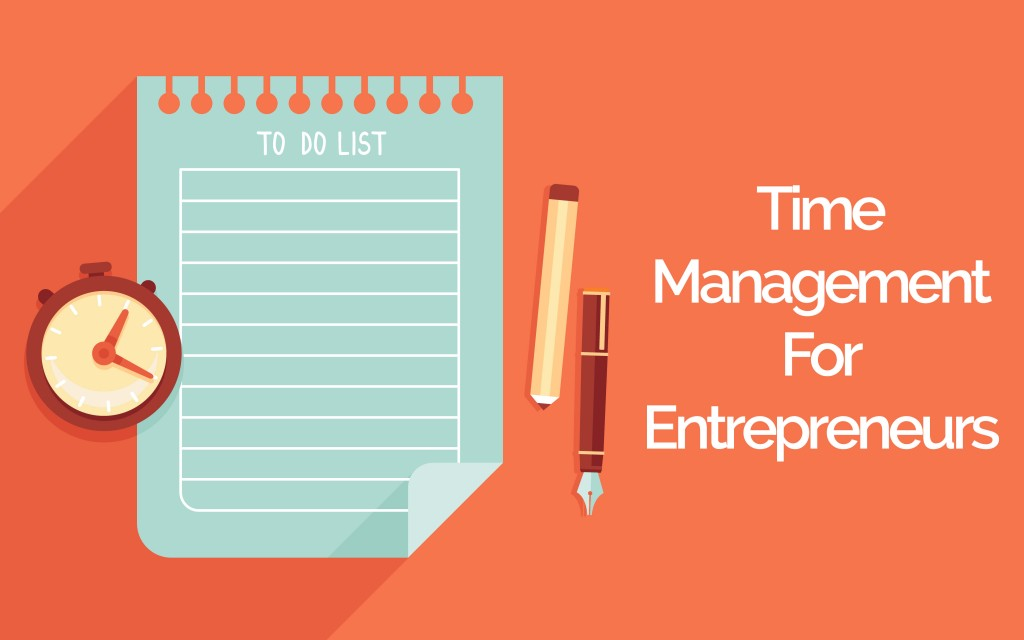 Image with the words 'Time Management For Entrepreneurs' on it