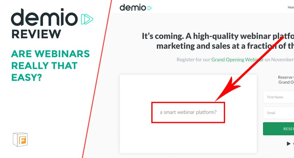Image that says - Demio Review - Are Webinars Really That Easy?